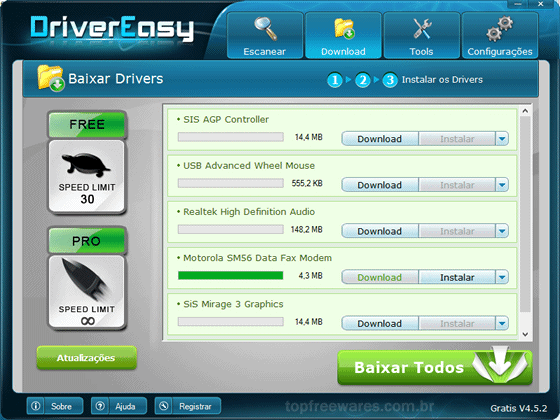 Programa gratuito para atualizar os drivers do PC - DriverEasy