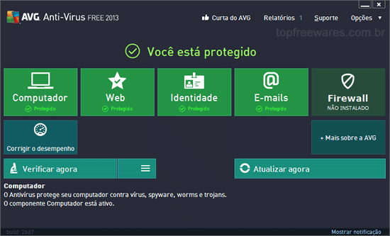 Antivírus gratuito para Windows - AVG Antivirus Free