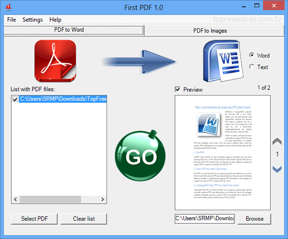 Top 5 programas para converter arquivos PDF para Word