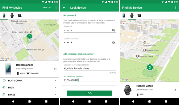 Localizar un teléfono Android con Find My Device