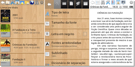 Leitor de ebooks para Android - Cool Reader