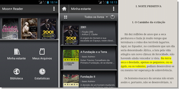 Leitor de ebooks para Android - Moon+ Reader