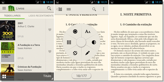 Leitor de ebooks para Android - PocketBook Reader