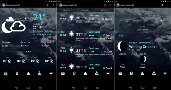 1Weather - Aplicativo de previsão do tempo para Android
