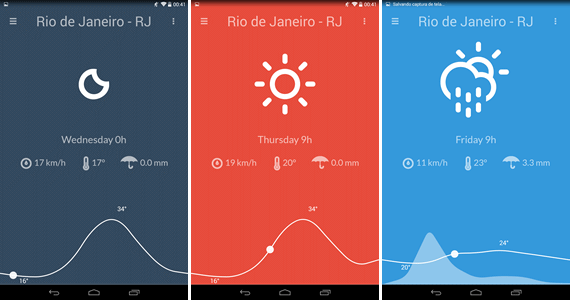 Nice Weather - Aplicativo de previsão do tempo para Android