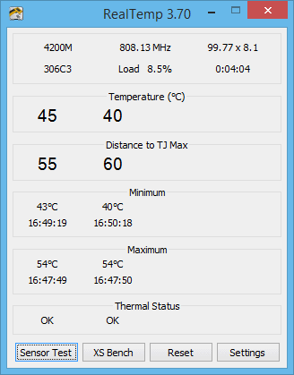Programa para monitorar a temperatura do PC - RealTemp