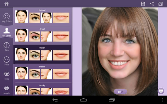 Aplicativos para retocar fotos no Android - Perfect365