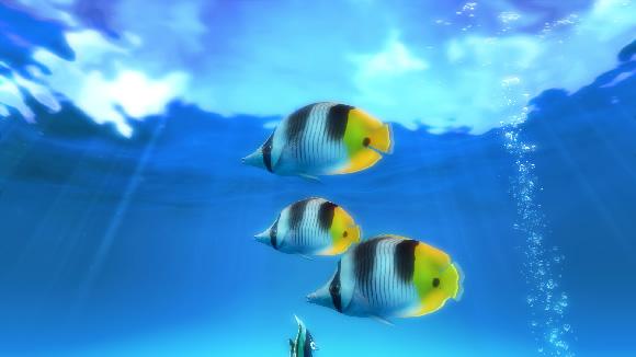 b8e844c39f9 A versão gratuita possui duas cenas aquáticas para você usar como proteção  de tela
