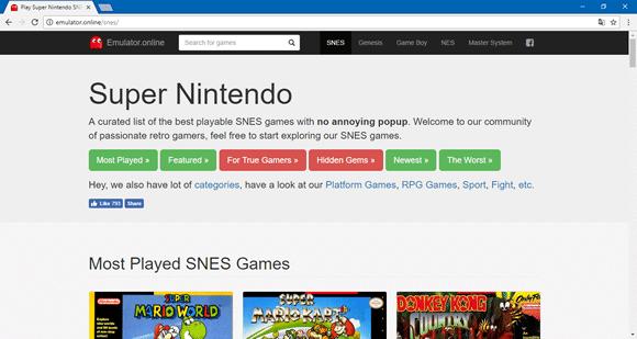 emulator online snes