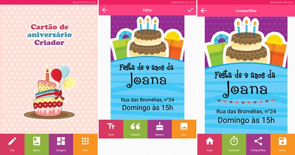 cartao aniversario android