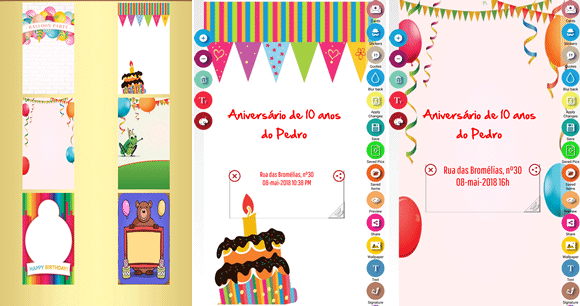 party invitation android
