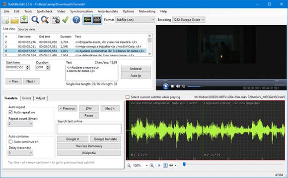 subtitle edit windows