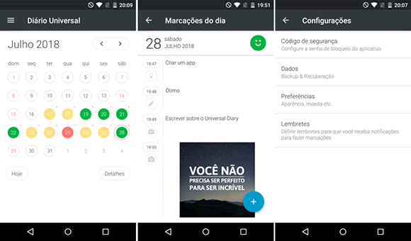 universal diary android