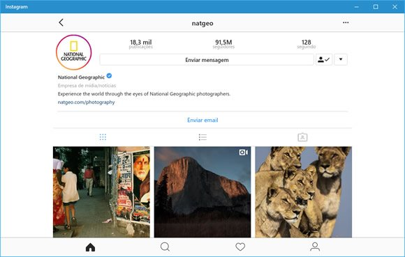 instagram windows10