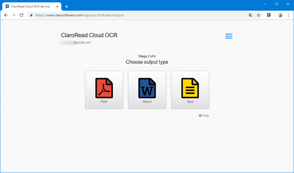 claroread cloud ocr chrome