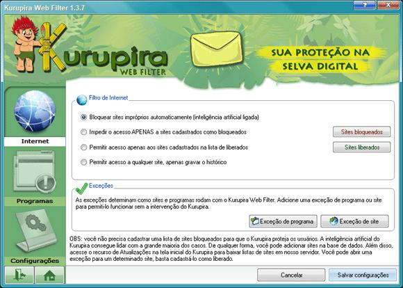kurupira web filter