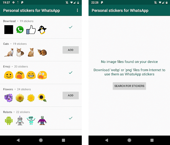 personal stickers android