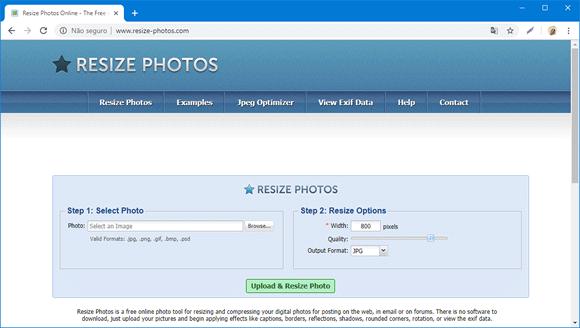 resize photos site