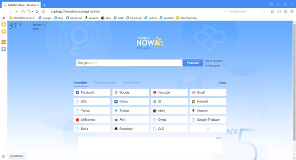 maxthon navegador pc antigo