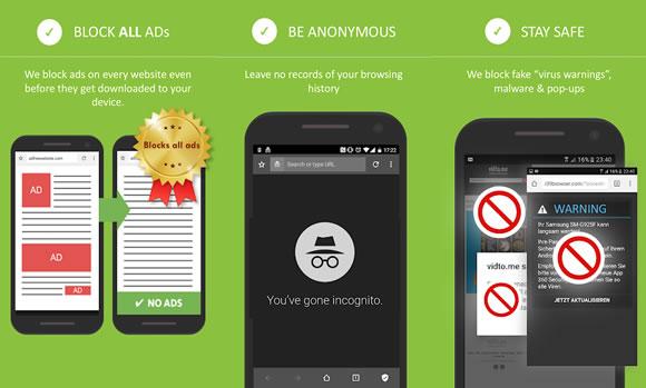 private browser anonimo
