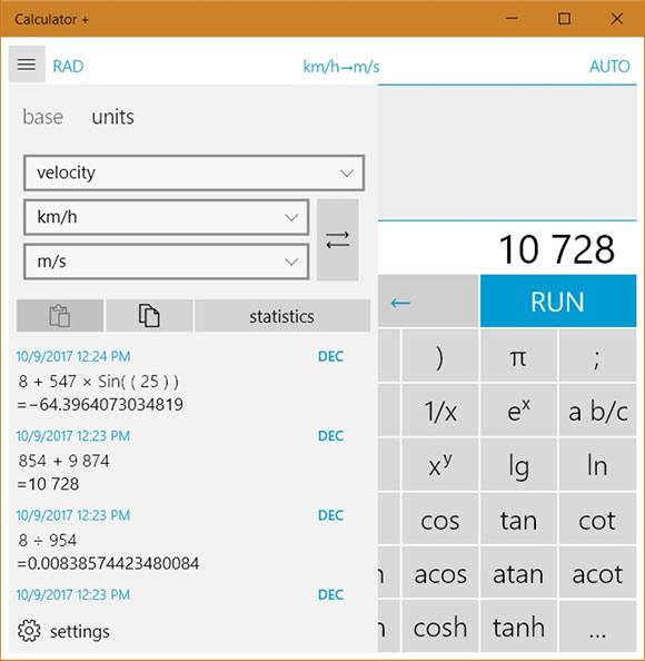 calculator plus win10