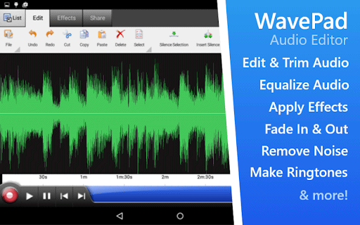 wavepad audio editor android