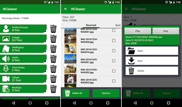 wcleaner android