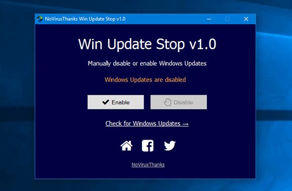win update stop