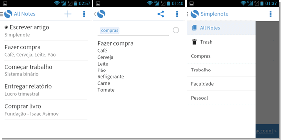 simplenote android