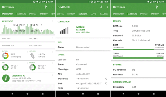 devcheck android