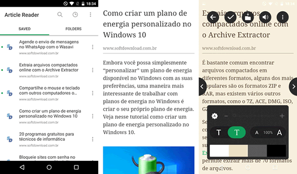 article reader android