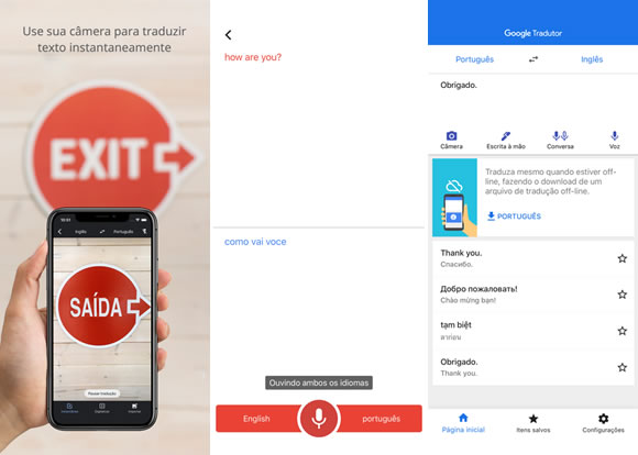 google tradutor voz iphone