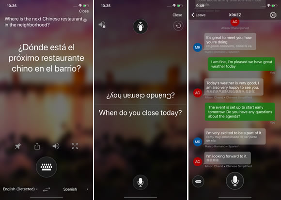 microsoft translator voz iphone
