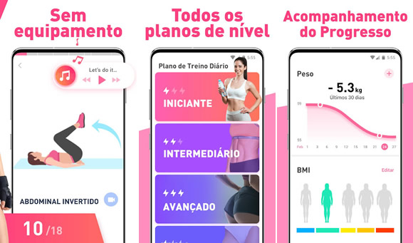treino casa mulheres android