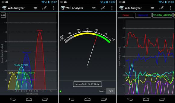 wifi analyzer sinal
