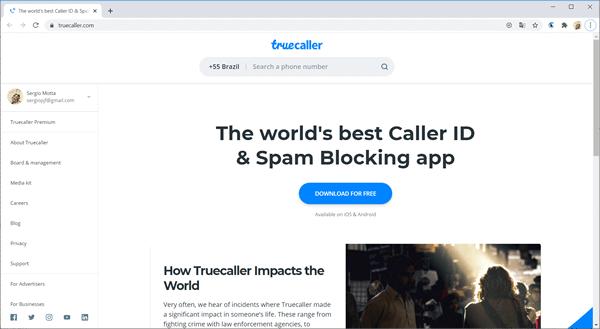 truecaller site