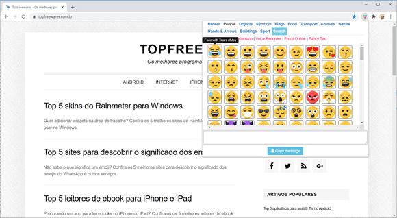 emoji keyboard chrome1