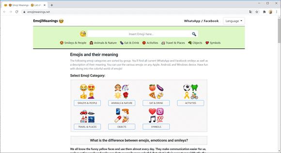 emojimeanings site