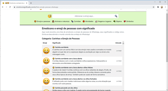 emoticonsignificado site