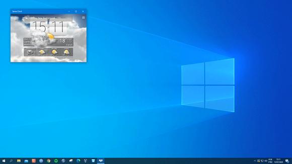 sense clock previsao desktop