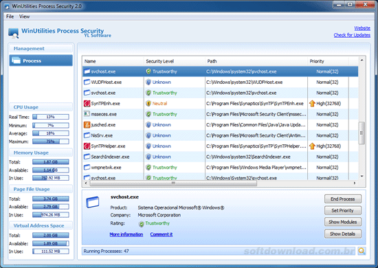 winutilities process security