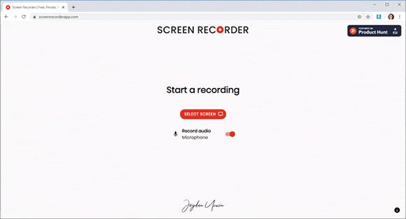 screen recorder site