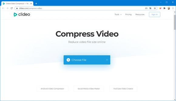 clideo compactador video online