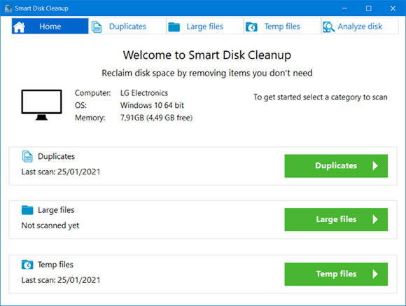 smart disk cleanup win10