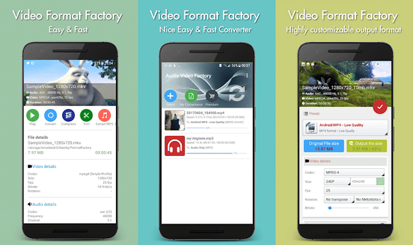 video format factory android
