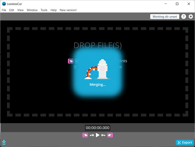 unir video losslesscut