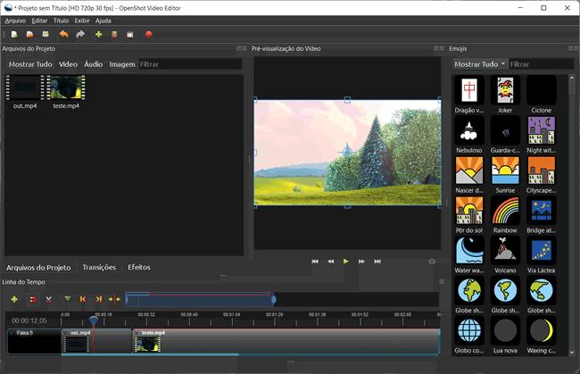 unir videos openshot
