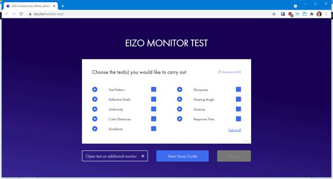 eizo monitor test